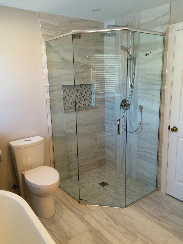 douche en angle sur mesure n o angle vitrerie verre design