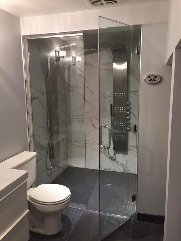 douche vapeur vitrerie verre design